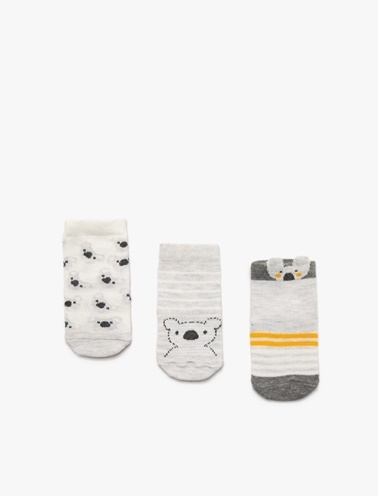 Koton Kids 3'lü Çorap Beyaz